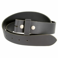 "BS1300 Black Belt Strap Buffalo Full Grain Matte Finish Leather 1-1/2"" Wide"