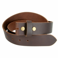 "BS1300 Brown Belt Strap Buffalo Full Grain Matt Finish Leather 1-1/2"" Wide"