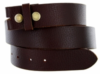 BS1400 Pebble Grain 100% Genuine Leather Belt Strap- Brown