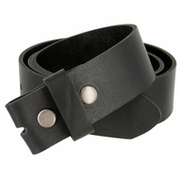 "BS1800 One Piece Genuine Full Grain Leather Belt Strap 1-1/2"" Wide - Black"