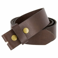 "BS1800 One Piece Genuine Full Grain Leather Belt Strap 1-1/2"" Wide - Brown"