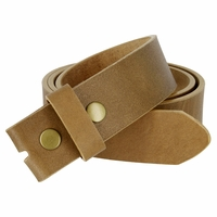 "BS1800 One Piece Genuine Full Grain Leather Belt Strap 1-1/2"" Wide - Tan"