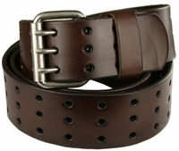 "BS200 Three Hole Genuine Leather Casual Jean Belt-Brown 1-3/4"" wide $32.50"