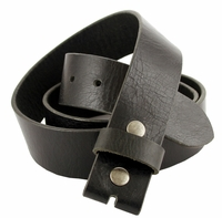 "BS474 100% Genuine Leather Belt Strap- 1-1/2"" Wide-Black"
