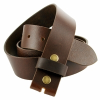 "BS474 100% Genuine Leather Vintage Belt Strap- 1-1/2"" Wide-Brown"