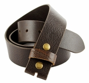 "BS474 100% Genuine Leather Vintage Belt Strap- 1-1/2"" Wide- Coffee"