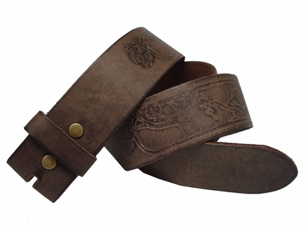 BS60 Full Grain Leather Belt Strap 1 3/4 inch wide