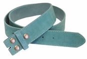 "BS66 Blue Suede Leather Belt Strap 1 1/2"" Wide"