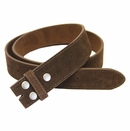 """BS66 Brown Suede Leather Belt Strap 1 1/2"""" Wide"""