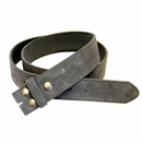 """BS66 Gray Suede Leather Belt Strap 1 1/2"""" Wide"""