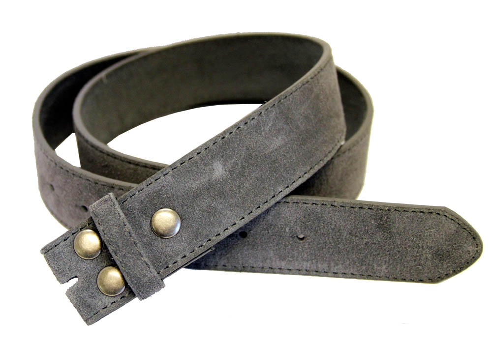 bs66 gray suede leather belt 1 1 2 quot wide