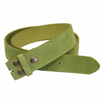 "BS66 Lime Suede Leather Belt Strap 1 1/2"" Wide"
