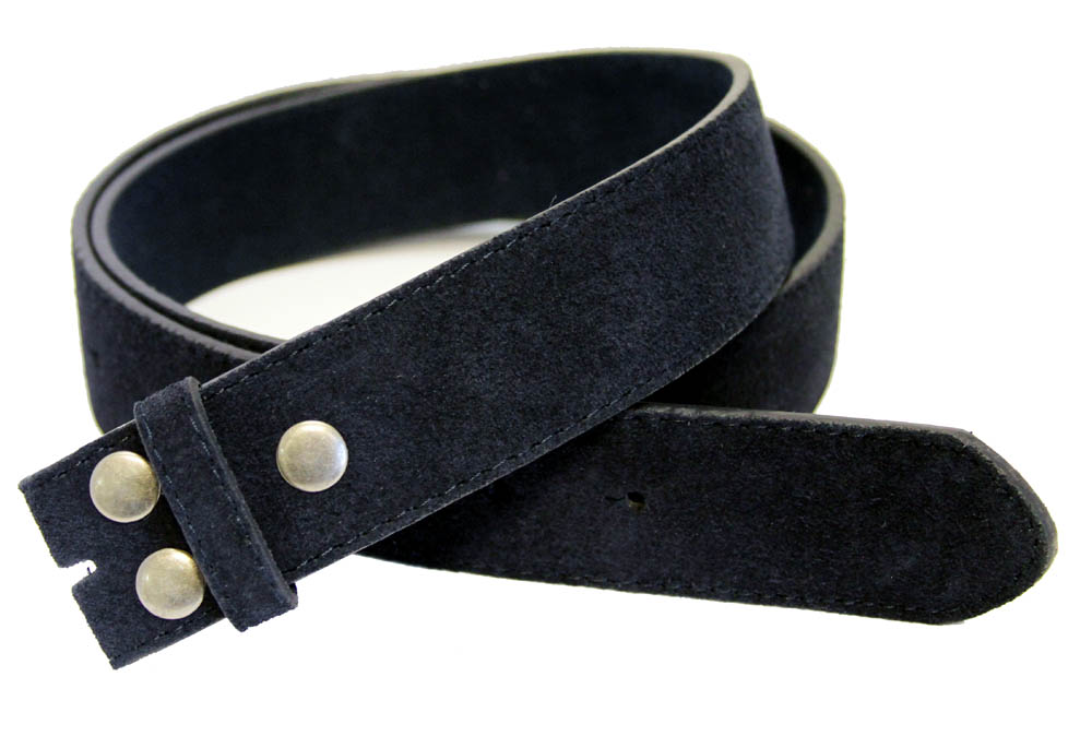 bs66 navy suede leather belt 1 1 2 quot wide