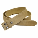 """BS66 Tan Suede Leather Belt Strap 1 1/2"""" Wide"""