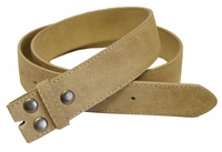 "BS66 Tan Suede Leather Belt Strap 1 1/2"" Wide"