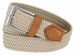 """C019/30 Italian Stretch Belt With Leather Tabs 1-1/8"""" Wide Made in Italy Naturale (Beige)1"""
