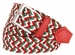 """C019/30 Italian Stretch Belt With Leather Tabs 1-1/8"""" Wide Made in Italy Red/White/Green1"""