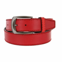 Cable Genuine Leather Red Golf Belt