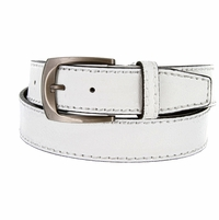 Cable Genuine Leather White Golf Belt