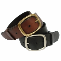 """Cannon Full Grain Leather Casual Belt 1 3/4"""" Wide"""