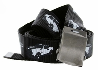 Canvas Military Web Punk Belt 1.25 inch wide - Black