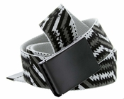 Canvas Military Web Punk Belt Black Metal Buckle 1.5 inch wide