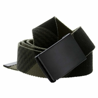 Canvas Military Web Style Belt Black Metal Buckle - ArmyGreen/Black