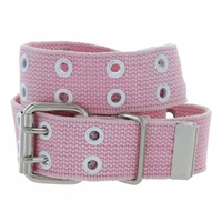 Canvas Two Holes Casual Jean Punk Belt 1.5 inch wide - Pink