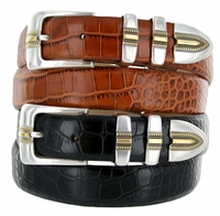 Carmelo Men's Italian Leather Designer Dress Belt $32.50