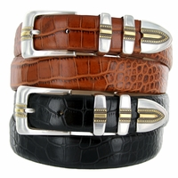 Carmelo Men's Italian Leather Designer Dress Belt