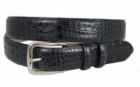 "Carom Men's Navy Italian Leather Dress Belt 1 1/8"" Wide $34.95"