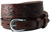 10579 Carson Brown Western Tooled Genuine Leather Casual Jean Ranger Belt