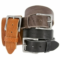 """Casual Belt Hand Crafted Made in USA Full Grain Cowhide Leather Belt 1-1/2"""" wide"""
