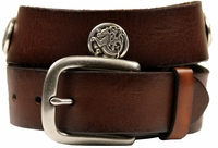 "Celtic Kell Dragon Genuine Leather Belt 1 1/2"" Wide"