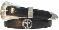 Christian Cross Conchos Western Leather Belt $39.50