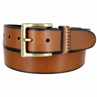 """Classic Genuine Leather Nickel Free Buckle Casual Dress Belt 1-1/2"""" wide ND333644MN - Tan"""