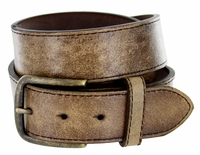 "Compton Men's Brown Vintage Distressed Leather casual Belt 1-1/2"" (38mm) $24.95"