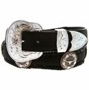 Copper LongHorn Steer Conchos Western Leather Belt