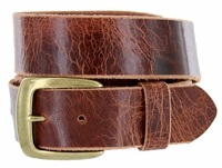 "CX Men's Vintage Full Leather Casual Jean Belt 1-1/2"" Wide"