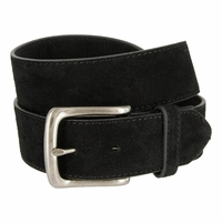 "CX160 Suede Leather Casual Jean Belts 1-1/2"" wide - Black"