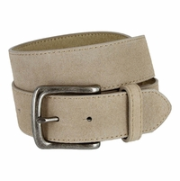 "CX160 Suede Leather Casual Jean Belts 1-1/2"" wide - Tan"