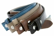 "E051 One Piece 100% Full Genuine Leather Belt Strap 1-1/2"" (38mm) Made In Italy"