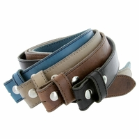 """E051 One Piece 100% Full Genuine Leather Belt Strap 1-1/2"""" (38mm) Made In Italy"""