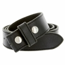 """E051 One Piece 100% Full Genuine Leather Belt Strap 1-1/2"""" (38mm) Made In Italy - Black"""