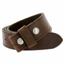 """E051 One Piece 100% Full Genuine Leather Belt Strap 1-1/2"""" (38mm) Made In Italy - Brown"""