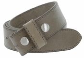 "E051 One Piece 100% Full Genuine Leather Belt Strap 1-1/2"" (38mm) Made In Italy - Taupe"