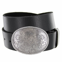 El Paso Western Trophy Buckle Full Grain Leather Casual Belt
