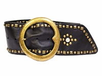 Elaine Soft Wide Leather Women's Sash Belt