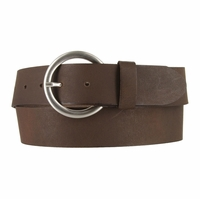 2524/38 Made In Italy Belt 1.5 Inch Wide (Dark Brown)