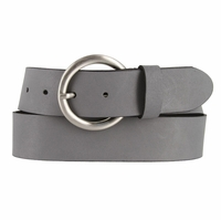 2524/38 Made In Italy Belt 1.5 Inch Wide (Gray)